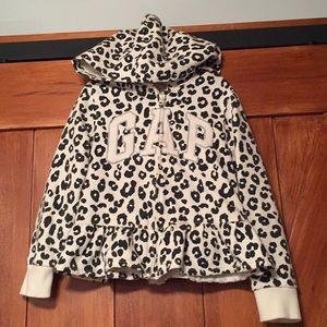 Girls gap animal print hoodie size 5
